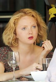 Lily Cole added volume to her bob with subtle curls.
