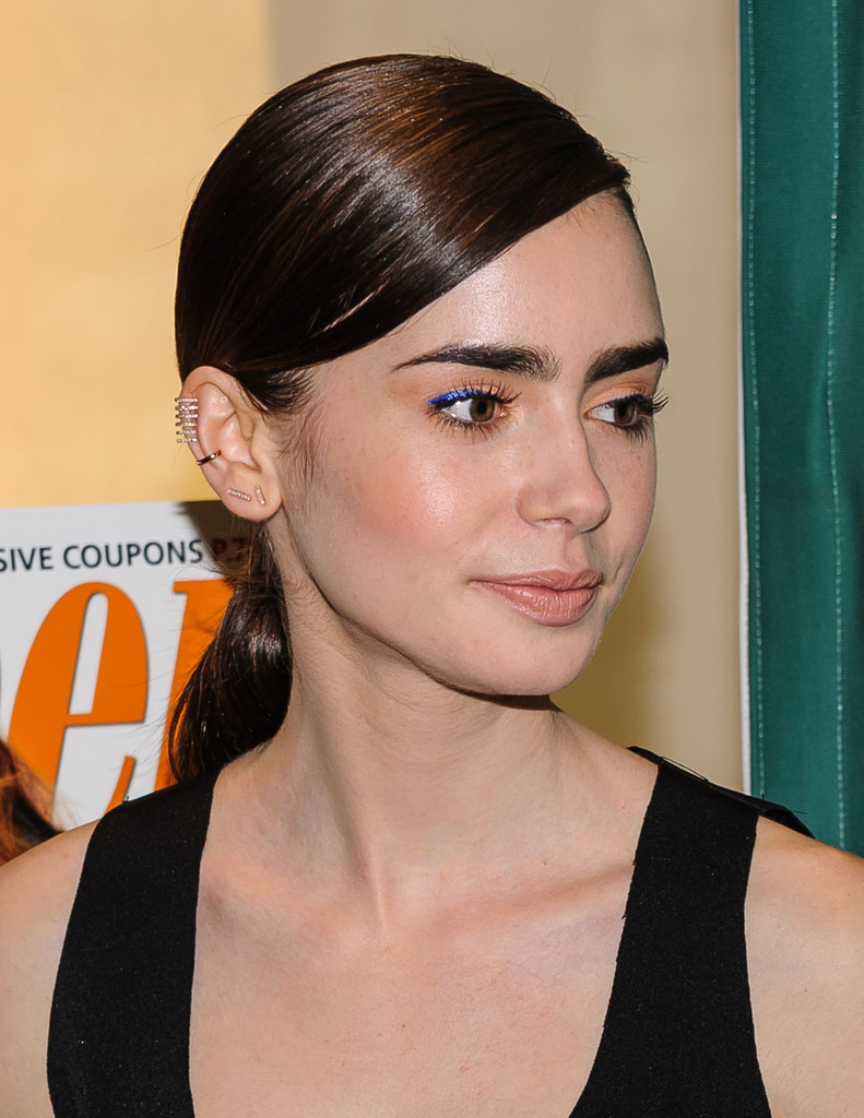 lily collins bright eyeshadow lily collins makeup looks