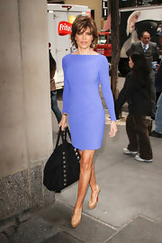 Lisa Rinna arrived for an appearance on the 'Today' show wearing a pair of tan platform heels.
