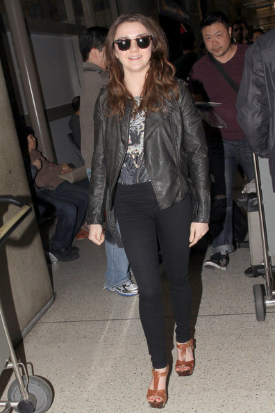 Maisie Williams Leather Jacket