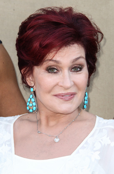 More Pics of Sharon Osbourne Dangling Gemstone Earrings (1 of 2) - Dangling Gemstone Earrings Lookbook - StyleBistro