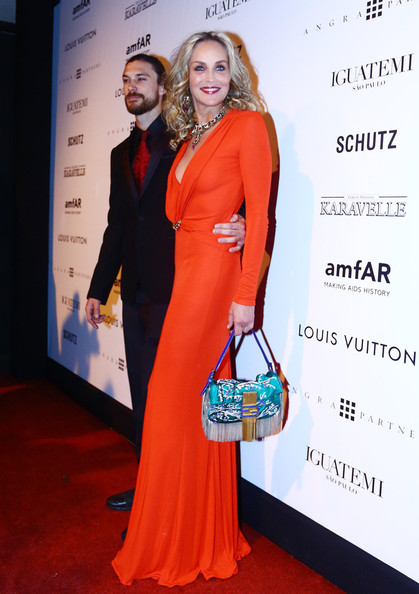 Alinne Moraes at the amfAR Inspiration Gala against AIDS in Sao Paulo, Brazil