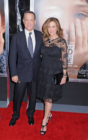 Rita Wilson wore a black lacy dress for the 'Extremely Loud and Incredibly Close' premiere.