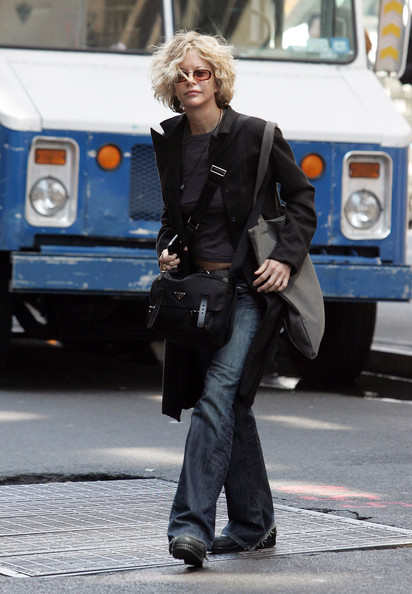 Meg Ryan Leather Messenger Bag