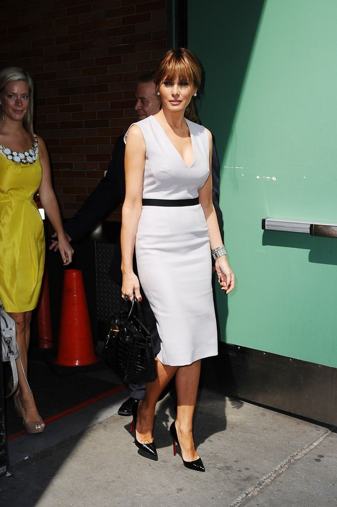 Melania Trump Day Dress Melania Trump Looks Stylebistro
