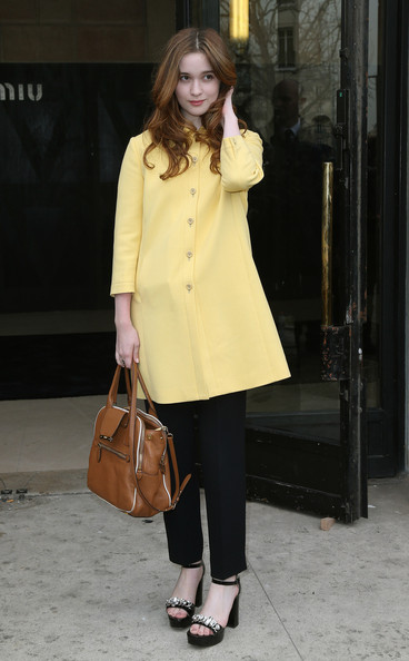 More Pics of Alice Englert Wool Coat (1 of 5) - Alice Englert Lookbook - StyleBistro