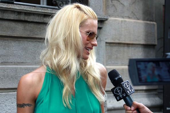 Michelle Hunziker Hair