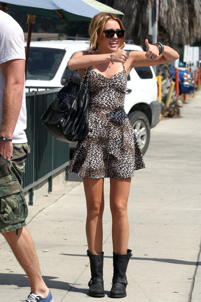 Miley Cyrus Leather Shoulder Bag