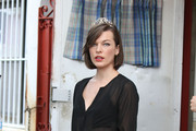 Milla Jovovich Button Down Shirt