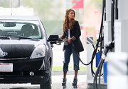 Not every day that you see someone pumping gas in a pair of oxford wedges by Dries Van Noten!