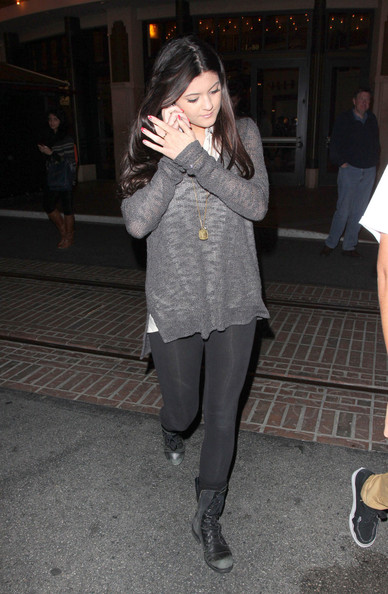 More Pics of Kylie Jenner Scoopneck Sweater (1 of 16) - Tops Lookbook - StyleBistro