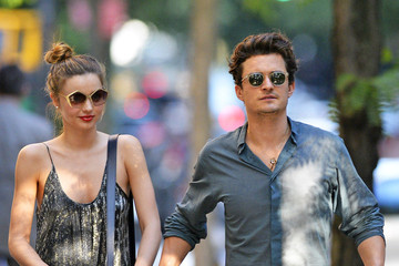 Miranda Kerr Orlando Bloom Orlando Bloom and Miranda Kerr Out with Flynn