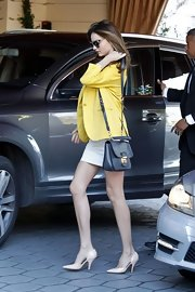 Miranda Kerr toted a black Miu Miu bag on an outing in West Hollywood.