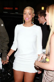 Amber was white hot in a sleek mini dress at Katsuya in Hollywood.
