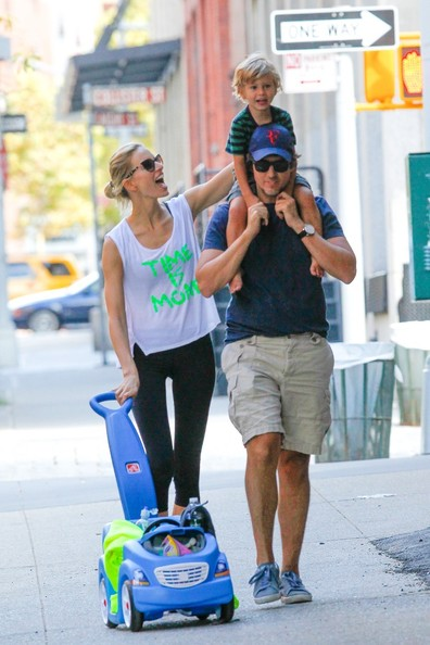 Karolina Kurkova and Family Out and About in NYC