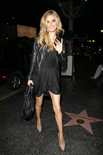 More Pics of Marisa Miller Leather Jacket (4 of 11) - Marisa Miller Lookbook - StyleBistro