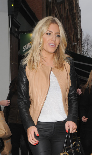 Mollie King Leather Jacket