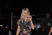 Mollie King seen leaving We Love Pop Club in London.