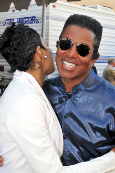 Monica and Jermaine Jackson arrive at the 2010 BET Awards held at the