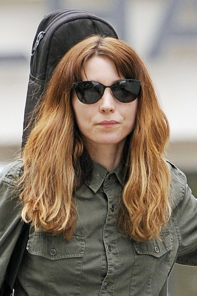Rooney Mara accessorized with a pair of cateye sunnies while filming scenes for 'Bitter Pill.'