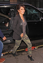 Cheryl Cole's lace-up studded boots were the epitome of edge.