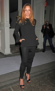 Stella McCartney's all black attire was anything but basic thanks to it's unique cut.