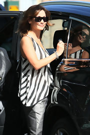 Natalie Imbruglia stepped out in Sydney wearing a cool pair of rectangular shades.