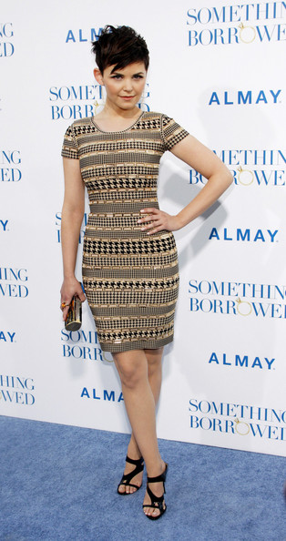Ginnifer Goodwin dazzled at the premiere of 'Something Borrowed' in black patent leather cutout mules.