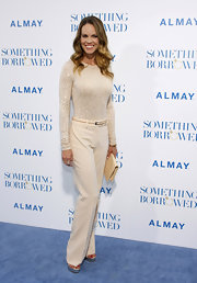 Hilary looked sophisticated in a cream ensemble for the 'Something Borrowed' premiere.