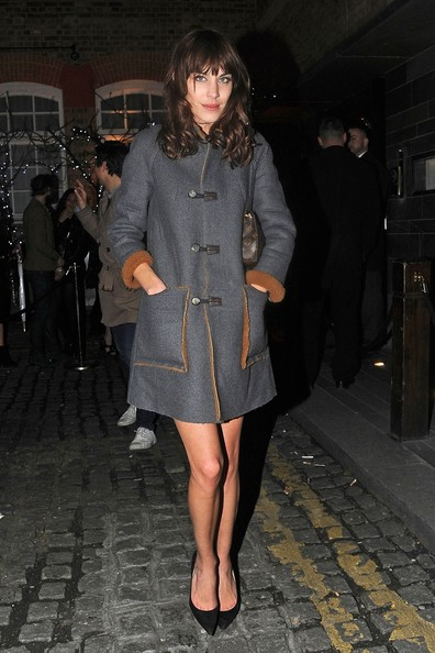 More Pics of Alexa Chung Wool Coat (1 of 7) - Alexa Chung Lookbook - StyleBistro
