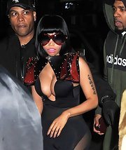 Nicki Minaj stepped out in some seriously oversized frames.