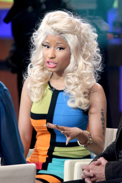 More Pics of Nicki Minaj Lettering Tattoo (1 of 7) - Nicki Minaj Lookbook - StyleBistro