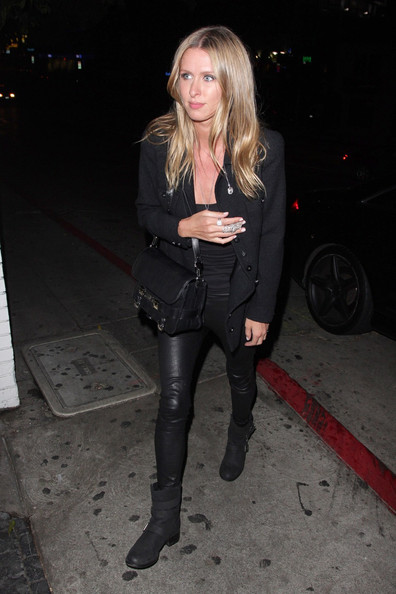 Nicky Hilton Motorcycle Boots