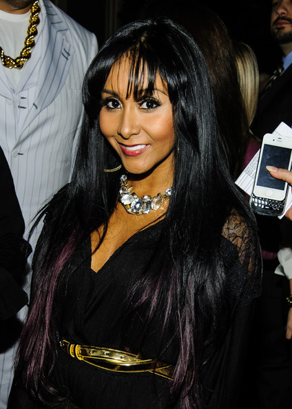 Nicole Polizzi Long Straight Cut with Bangs