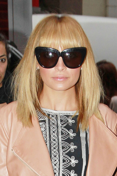 Nicole Richie Medium Straight Cut with Bangs