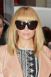 Nicole Richie arrived for an appearance on the 'Today' show wearing her hair in sleek layers with long wispy bangs.