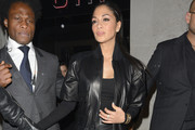 Nicole Scherzinger Leather Jacket