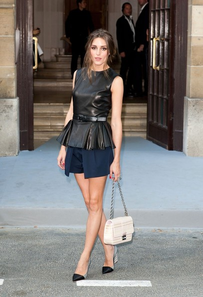 Olivia Palermo seen arriving to the Christian Dior Fashion show at Paris Fashion Week