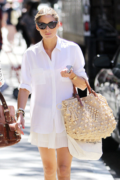 More Pics of Olivia Palermo Button Down Shirt (1 of 10) - Button Down Shirt Lookbook - StyleBistro