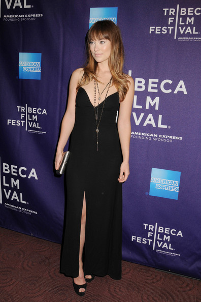 Olivia Wilde Is Stunning In A Black Evening Dress Celebrity