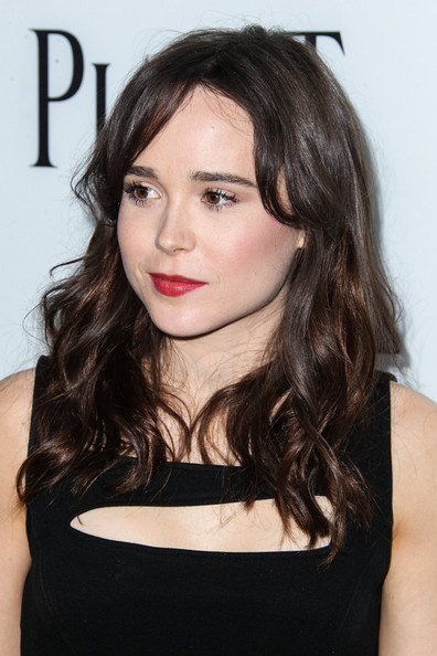 More Pics of Ellen Page Long Wavy Cut (2 of 9) - Ellen Page Lookbook - StyleBistro