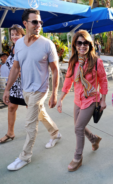 Paula Abdul was out and about in Miami Beach wearing a comfortable pair of slip-on wedges.