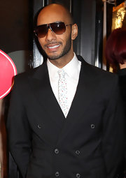 Swizz Beatz wore this Funfetti tie to the 'Feu' premiere in Paris.