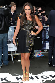 Tamara Ecclestone looked like a warrior princess in this studded black number.