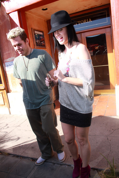 Katy Perry and Perez Hilton Grab Lunch