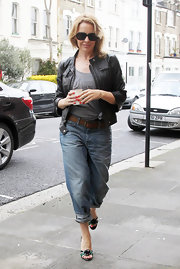 Kylie Minogue stepped out in London wearing vivid cherry red nail polish.