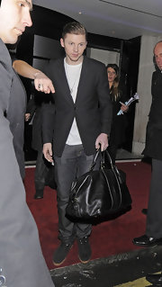 Professor Green's black blazer was a formal finish to his tee and jeans combo during the 2012 Elle Style Awards.