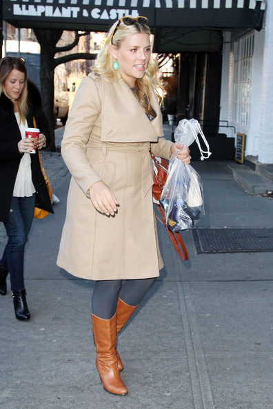 More Pics of Busy Philipps Wool Coat (1 of 13) - Wool Coat Lookbook - StyleBistro