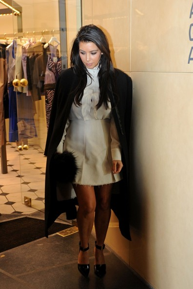 More Pics of Kim Kardashian Wool Coat (1 of 18) - Kim Kardashian Lookbook - StyleBistro