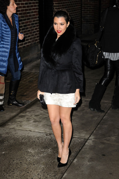 More Pics of Kourtney Kardashian Fur Coat (1 of 8) - Kourtney Kardashian Lookbook - StyleBistro